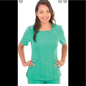 Professional choice uniform Excel zipped up scrub top